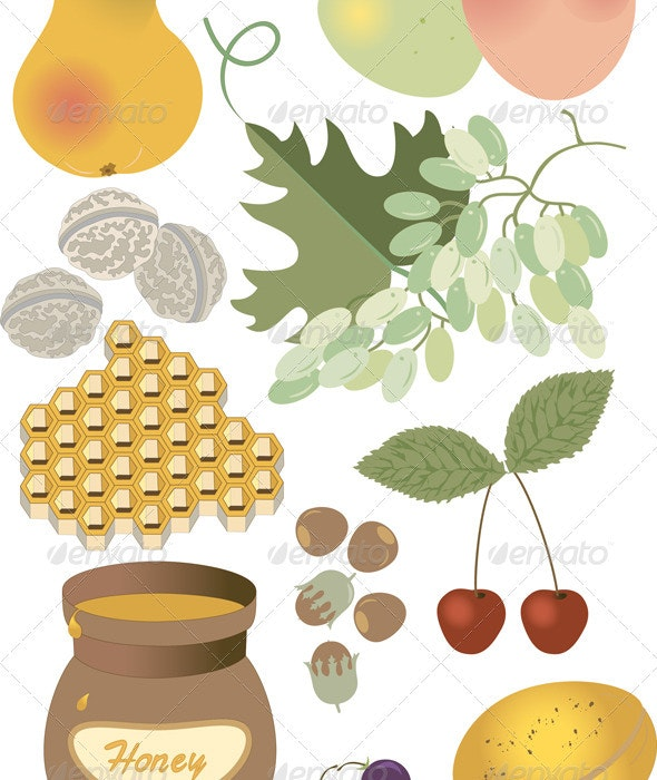 Summer Tasty Gifts of Nature - Food Objects