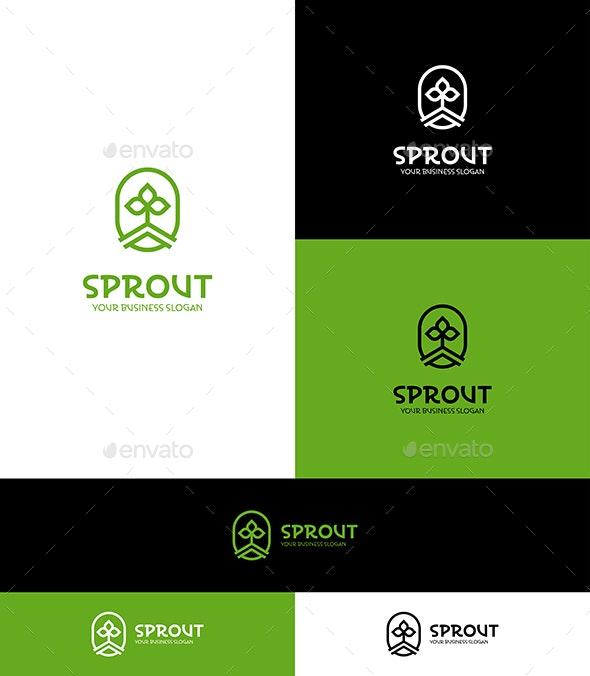 Sprout Logo Green Eco Nature Symbol - Nature Logo Templates