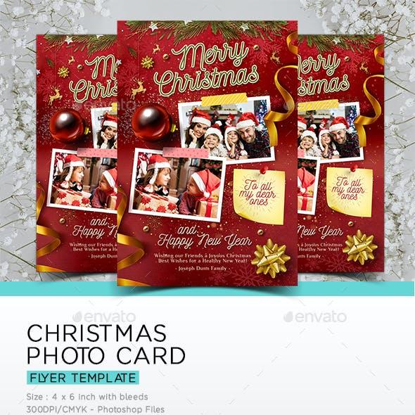 Christmas Photo Card Template