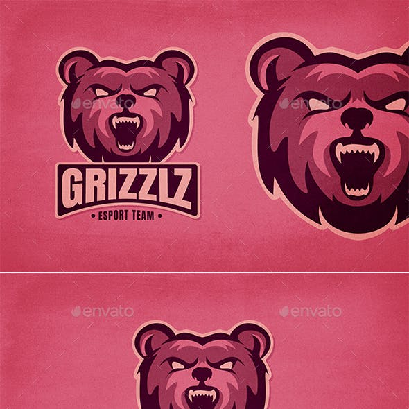 Grizzly Bear E-Sports Logo