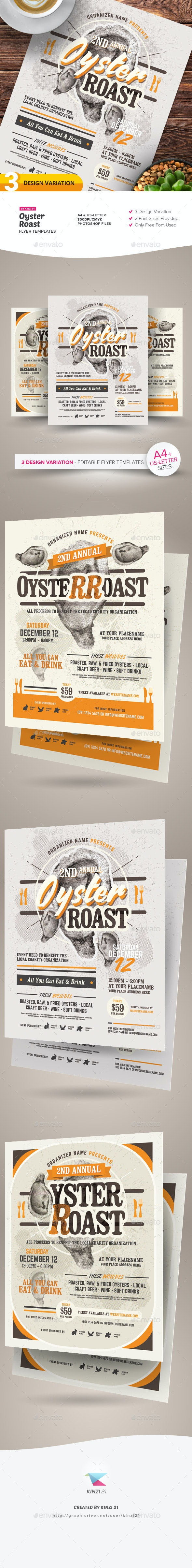 Oyster Roast Flyer Templates - Miscellaneous Events