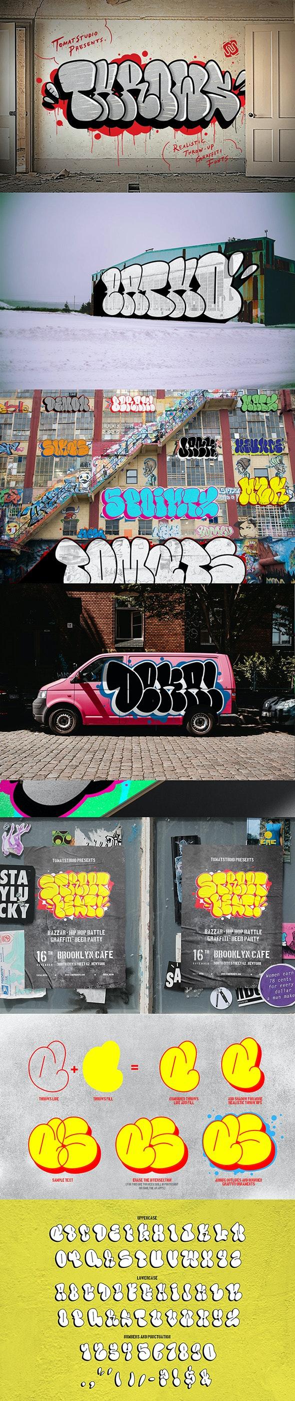 Graffiti Fonts | Throws - Graffiti Fonts