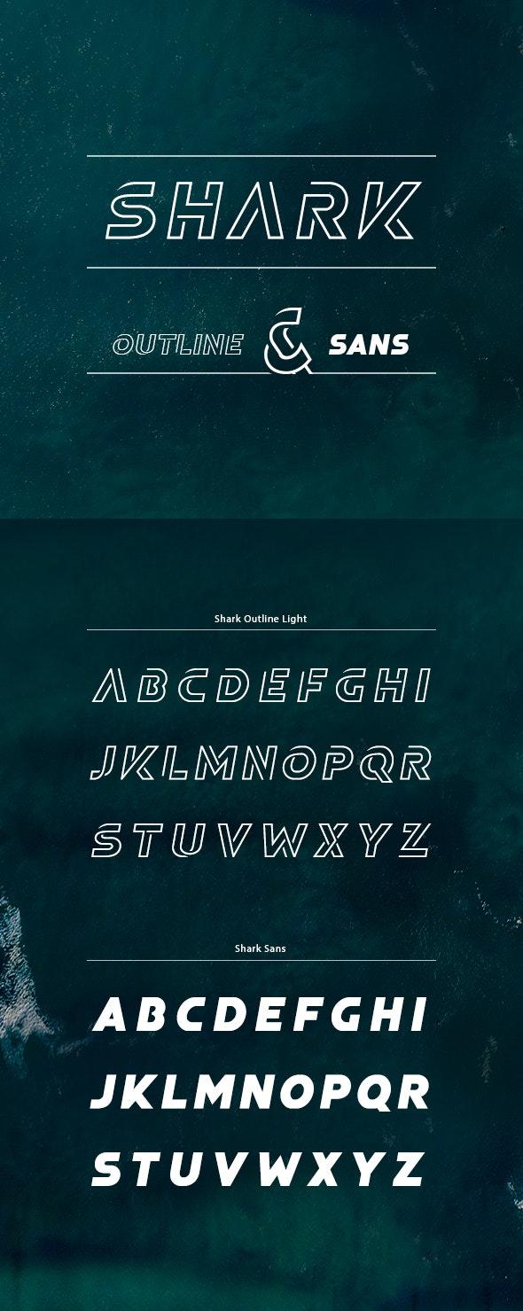 Shark Outline font - Miscellaneous Decorative