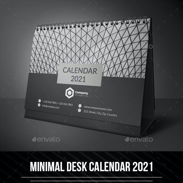 Minimal Desk Calendar 2021