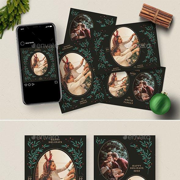Christmas Photocard + Social Media Template