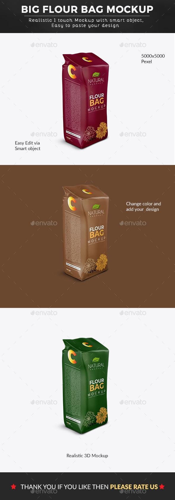 Big Flour Bag Mockup - Graphics