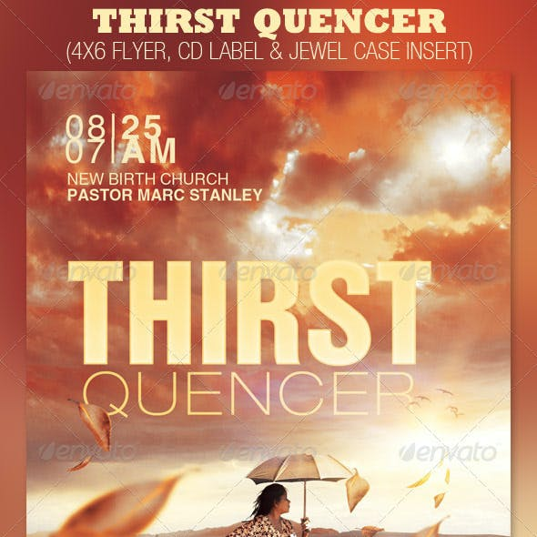 Thirst Quencher Church Flyer and CD Template