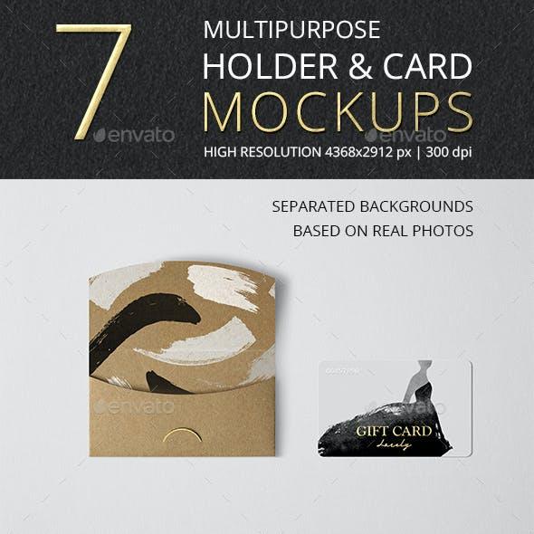Multipurpose Holder & Card Mockup Vol 11.0
