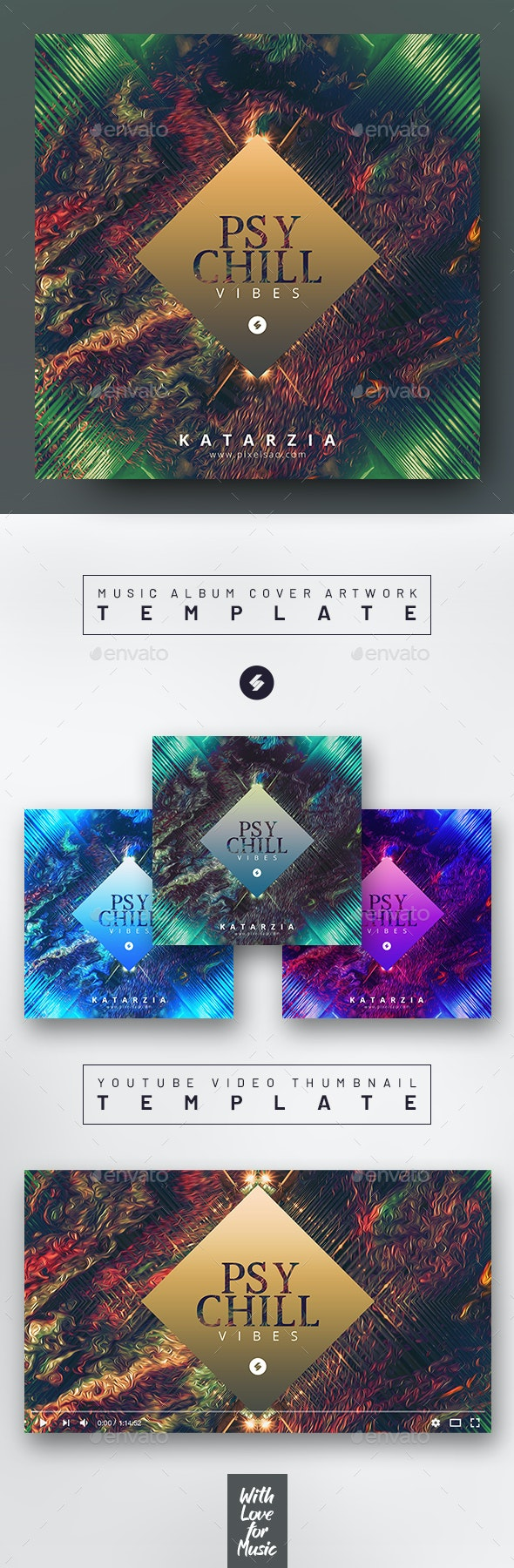 Psychill Vibes – Music Album Cover Art / Video Thumbnail Template - Miscellaneous Social Media