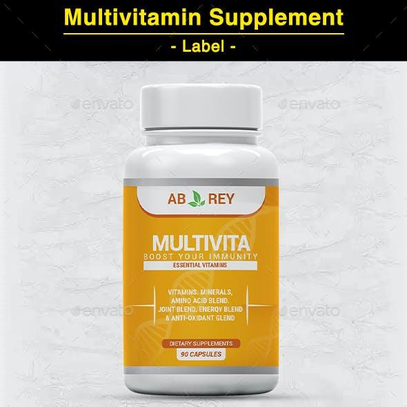 MultiVitamin Label  Template