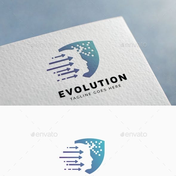 Evolution Human Logo Template
