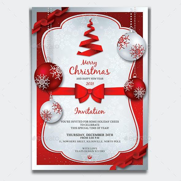 Christmas Invitation Template V4