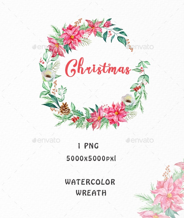 Christmas Wreath Clipart PNG - Objects Illustrations