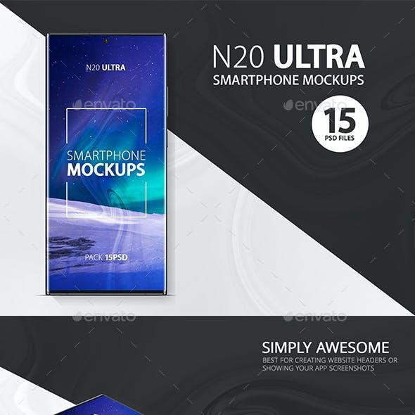Note 20 Ultra Smartphone Mockups