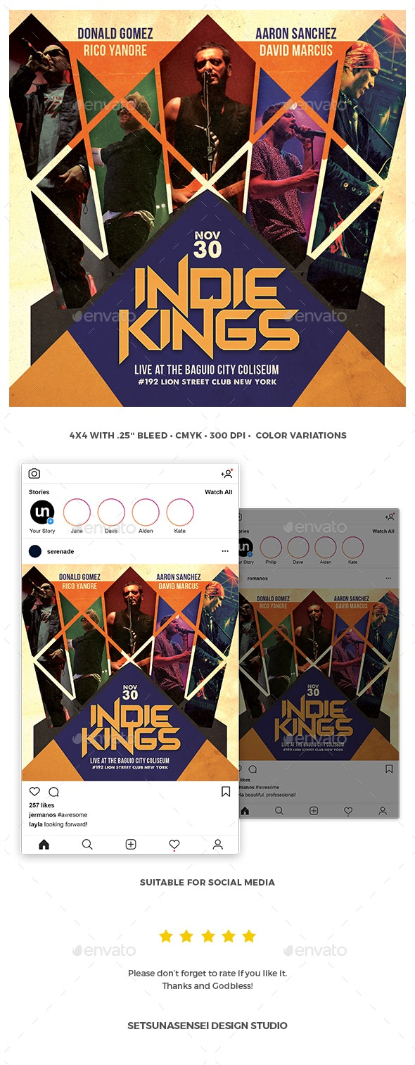 Indie Kings Flyer - Concerts Events