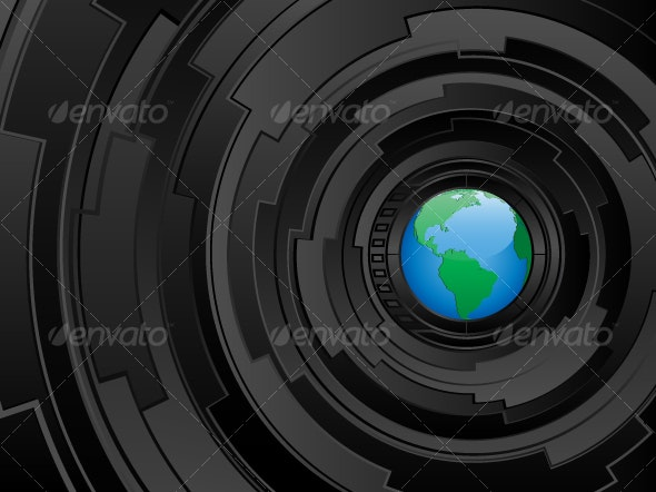 Abstract futuristic background - Communications Technology