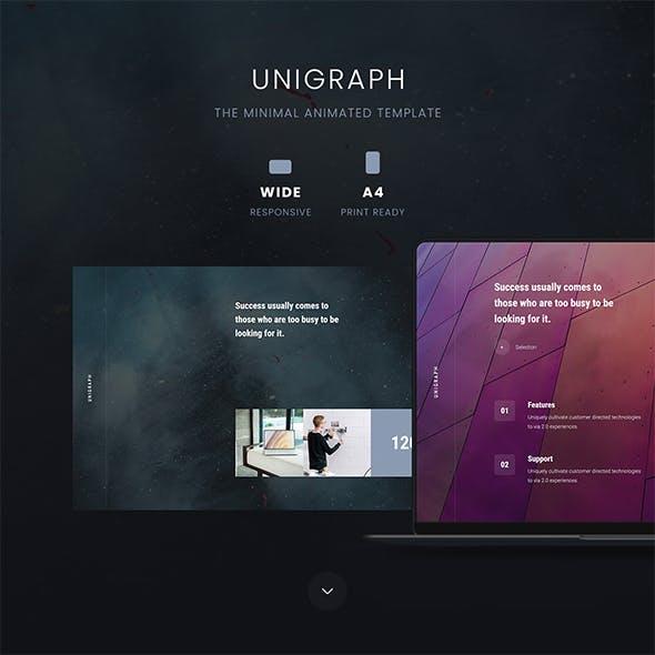 UNIGRAPH - Minimal & Portfolio Template (PPTX)