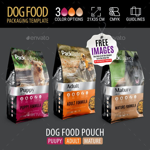 Dog Food Pouch Packaging Template