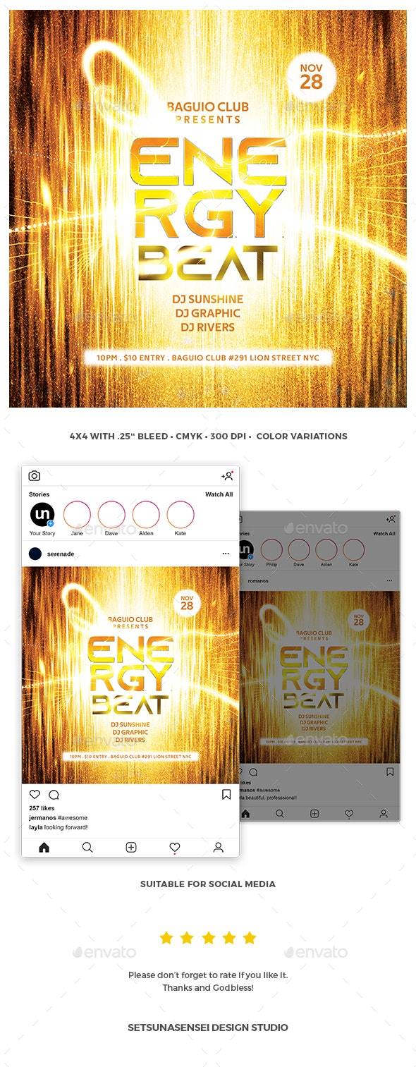Energy Beat Flyer - Clubs & Parties Events