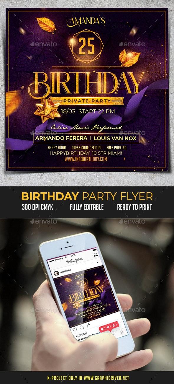 Birthday Party Flyer - Birthday Greeting Cards