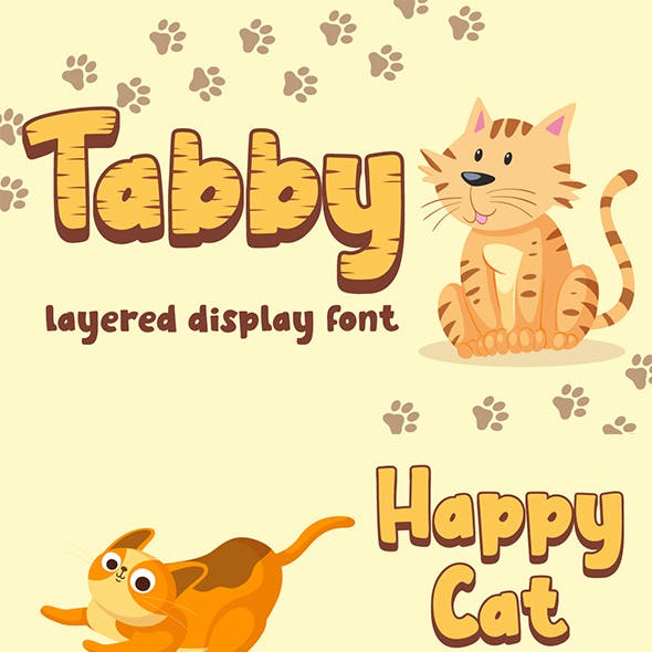 Tabby - Layered Display Font