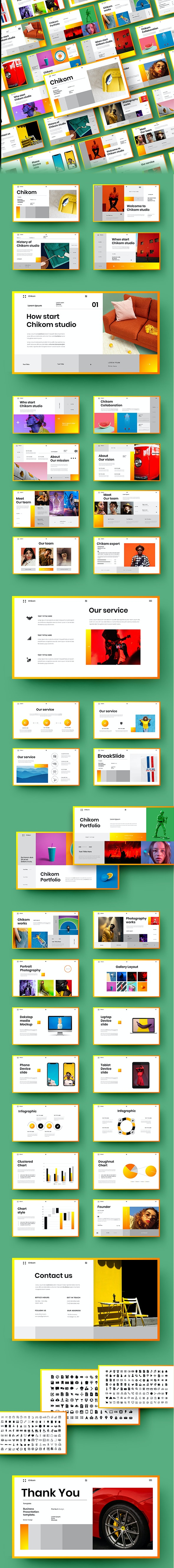 Chikom – Business PowerPoint Template - Business PowerPoint Templates