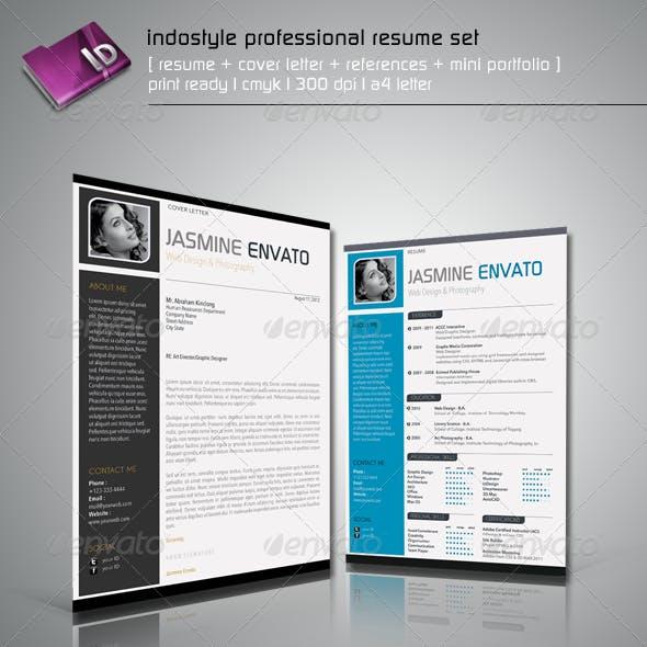Indostyle Professional Resume Set