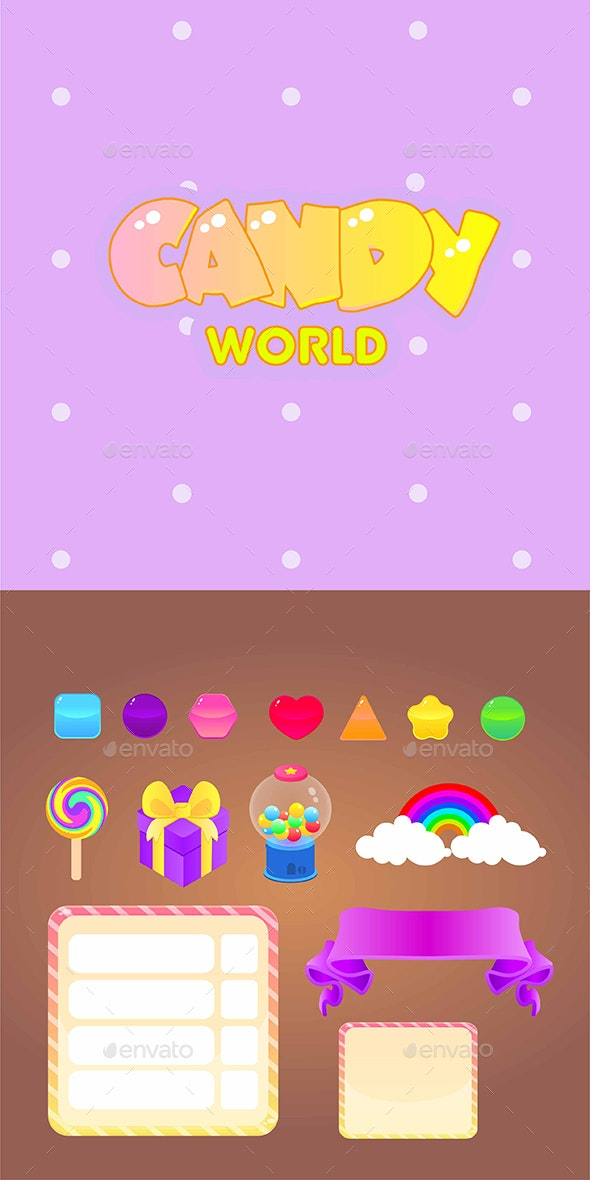 Candy World Game Assets - Miscellaneous Game Assets