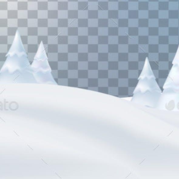 Snow Landscape, Christmas Wallpaper