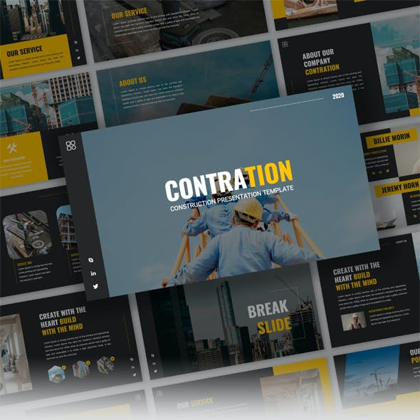 Contration - Construction Company Powerpoint Template