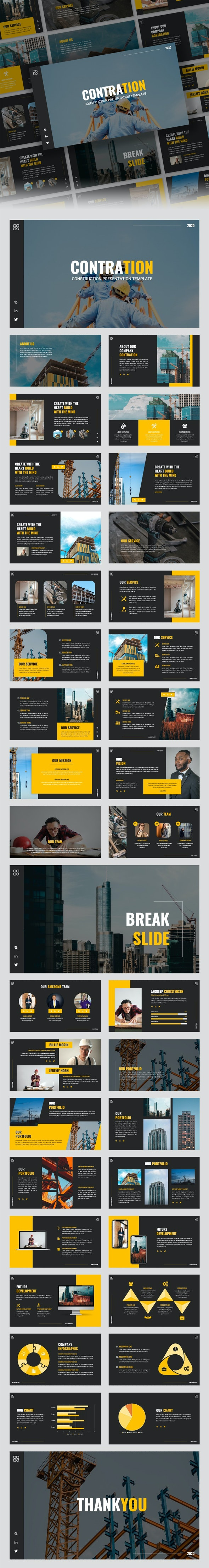 Contration - Construction Company Powerpoint Template - Business PowerPoint Templates