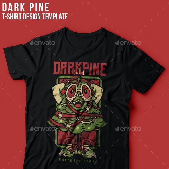 Dark Pine Happy Christmas T-Shirt Design