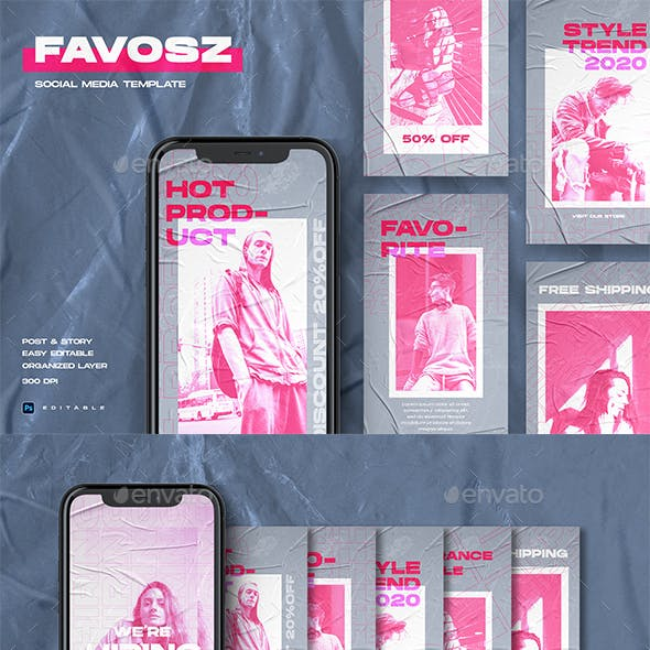 FAVOSZ - Streetwear Instagram Stories & Post