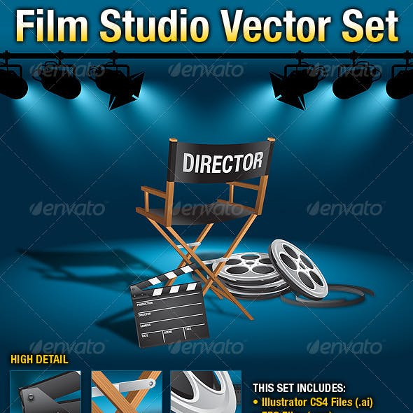 Film Studio Vector Set