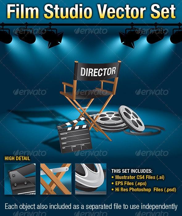 Film Studio Vector Set - Objects Vectors