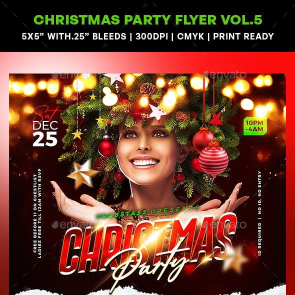 Christmas Party Flyer Vol.5