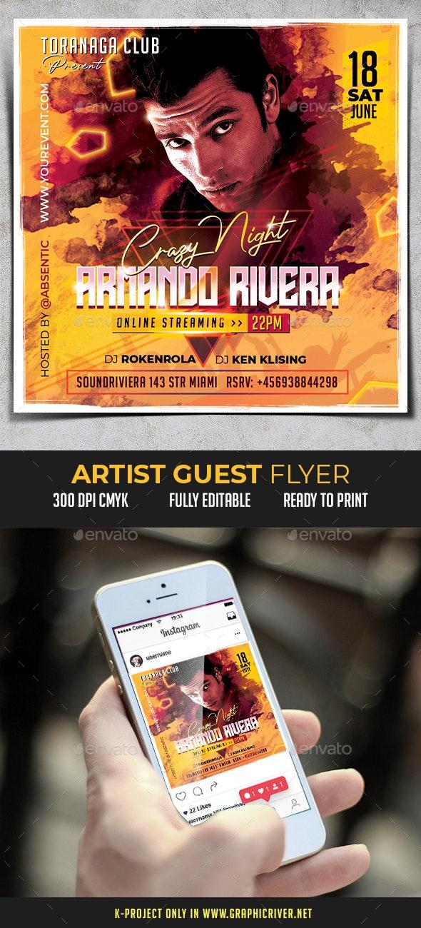 Artist Guest Flyer - Clubs & Parties Events