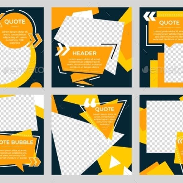 Social Media Post Template. Modern Frame Concept