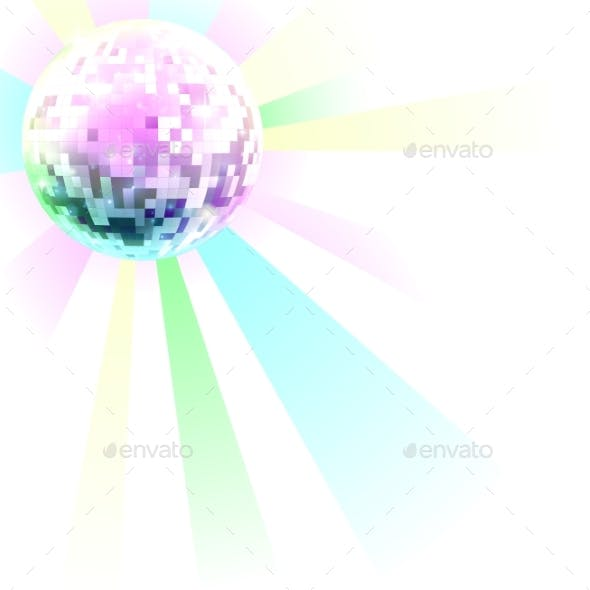 Retro Disco Nightclub Mirror Ball Dance Floor