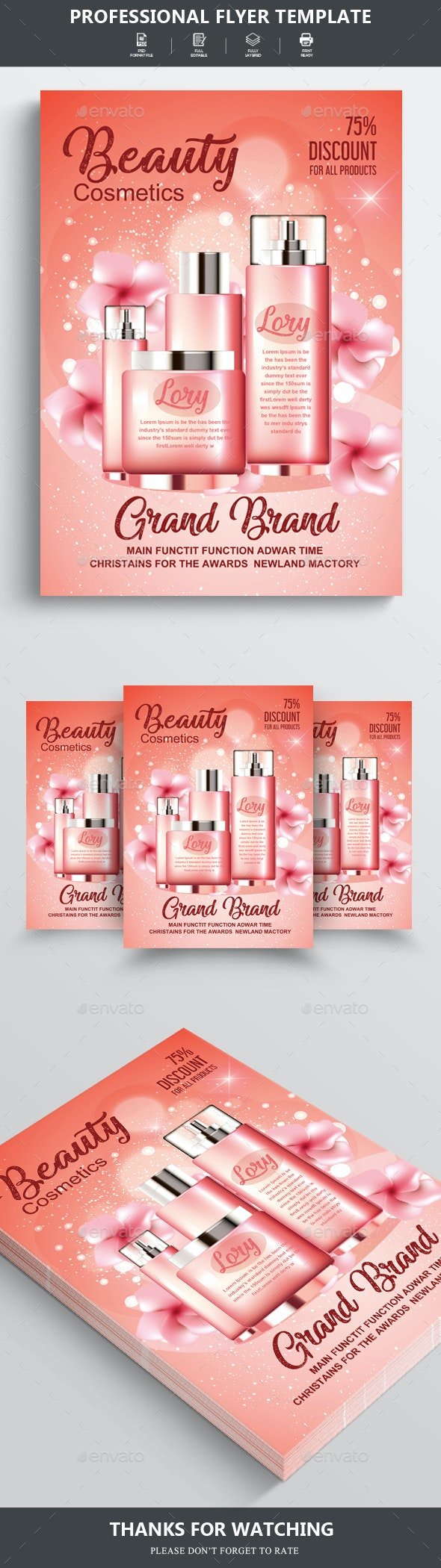 Beauty Cosmetics Poster Templates - Clubs & Parties Events
