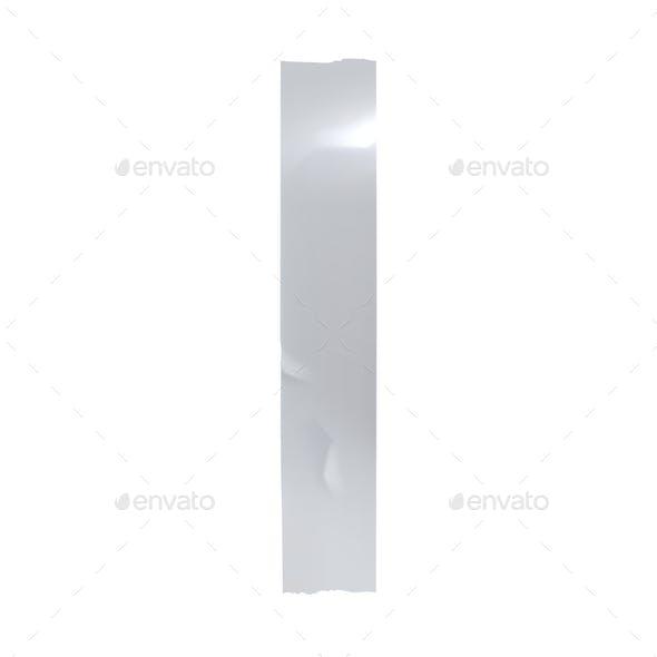Silver Sticky Tape Vector Illustration