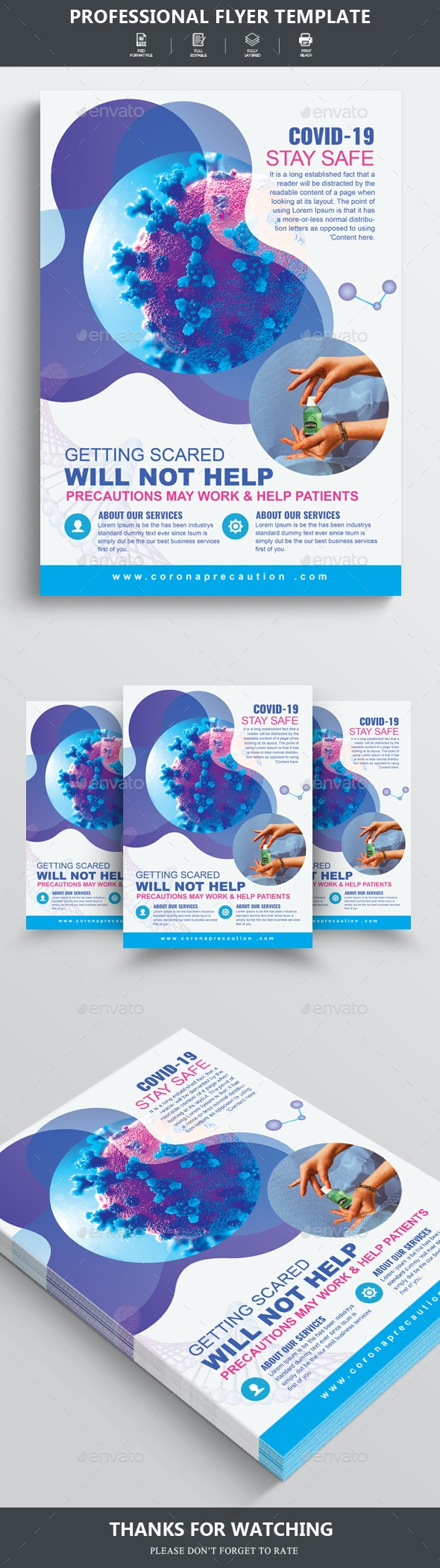 Virus Infection Awareness Flyer Template - Corporate Flyers