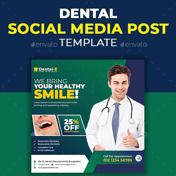 Dental Social Media Post Design Template