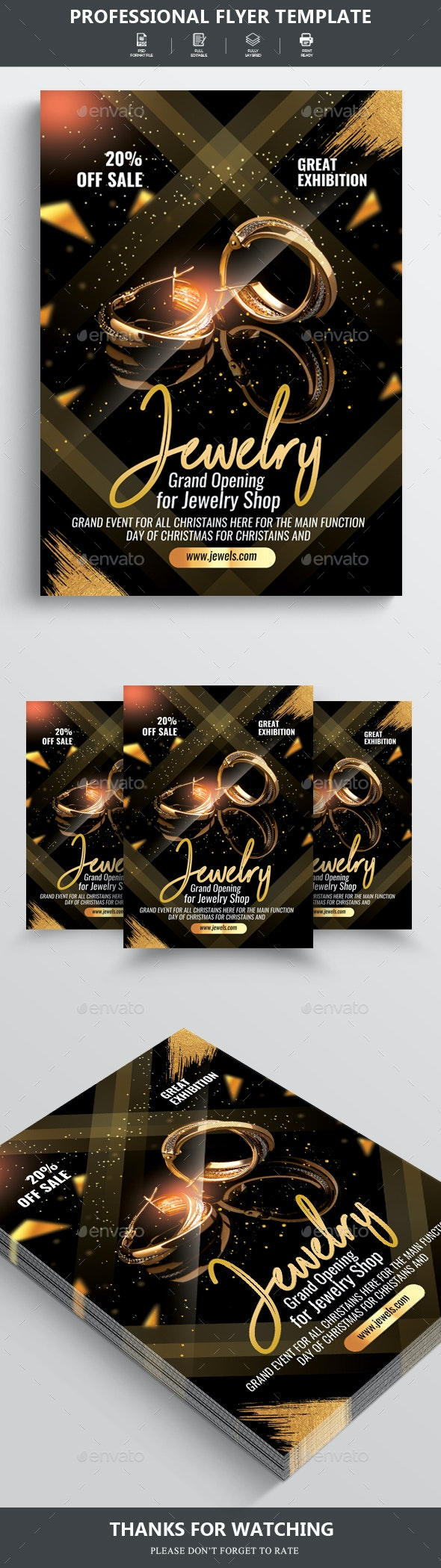 Jewelry Discount Promotion Poster - Corporate Flyers