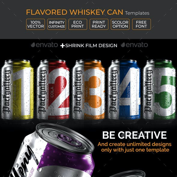 Flavored Whiskey Can Template