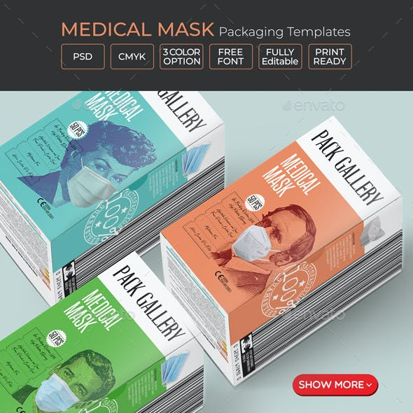 Face Mask Box Templates