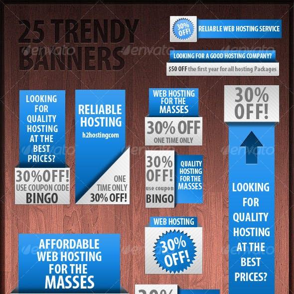 25 Trendy Web Banners