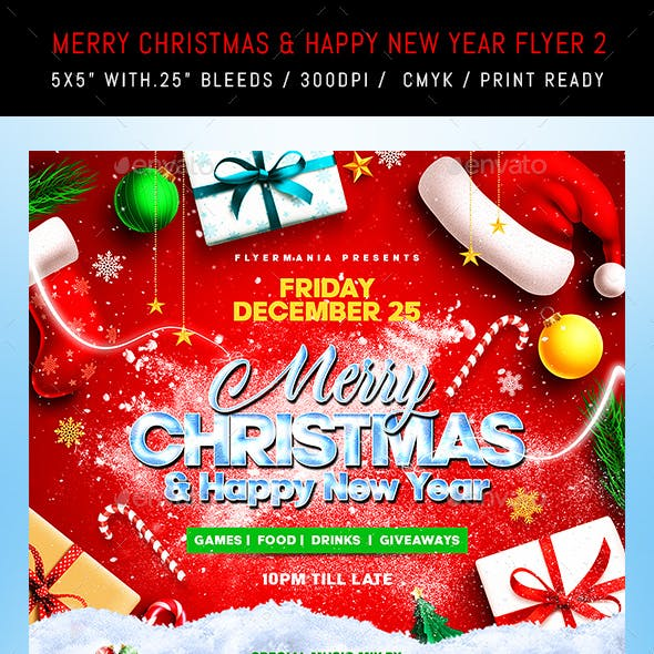 Merry Christmas & Happy New Year Flyer 2
