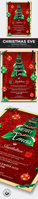 Christmas Invitation Template V7 - Invitations Cards & Invites