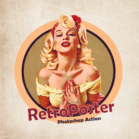 Retro Poster - Photoshop Action